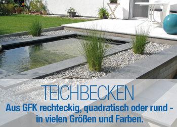 Gartenbrunnen und Teichbecken Online-Shop